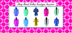 Design Your Own-Shawl Collar Sweater Cardigan with Short Sleeves- 9 Color Choices