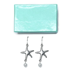 Starfish Pearl Chandelier Earrings