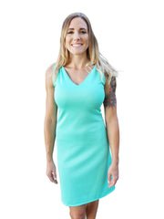 Beach Wedding Sleeveless V Neck Dress-Choose Your Color and Quote