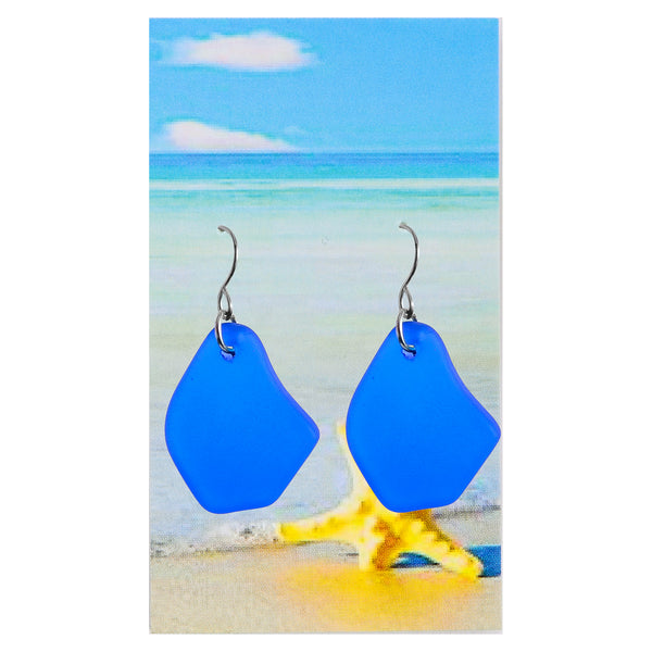 Sea glass Royal Blue Earrings