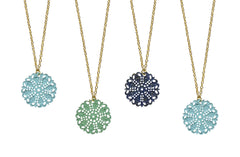Shabby Chic Designer Vintage Filigree Necklace-10 Color Choices