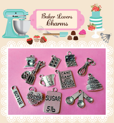 Baker Lovers Charms-SET OF 6-Random Mix