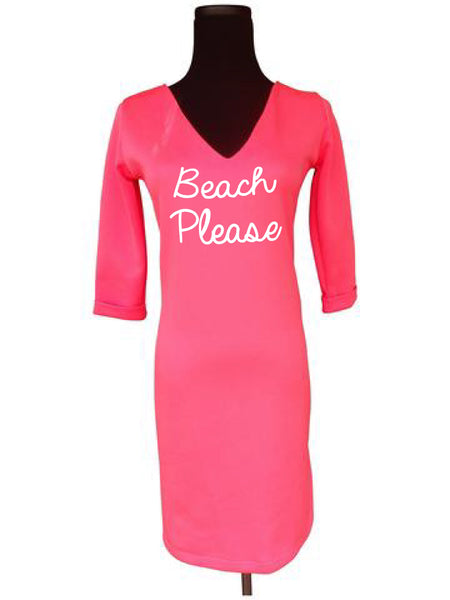 Beach Honeymoon Shift Dress-Choose Your Color and Quote
