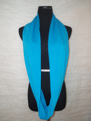 Blueberry Teal Infinity Scarf