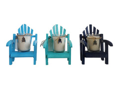 Luxury Miniature Navy Adirondack Chair Candle-Comes with a free Necklace Charm