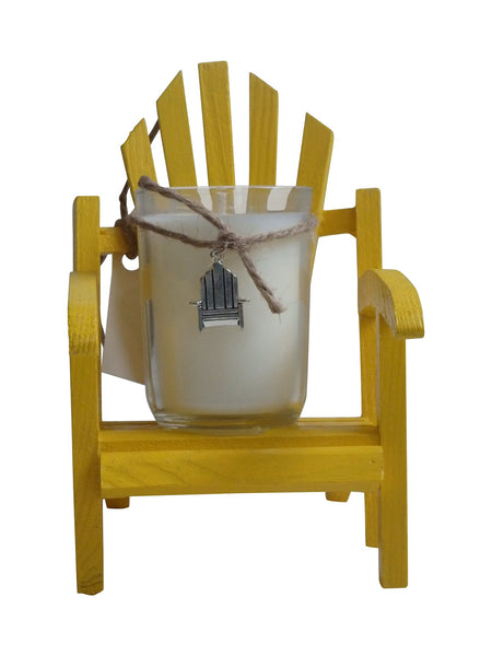Luxury Miniature Yellow Adirondack Chair Candle-Comes with a free Necklace Charm