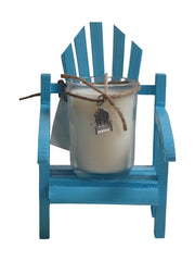 Luxury Miniature Aqua Adirondack Chair Candle-Comes with a free Necklace Charm-Design Your Own