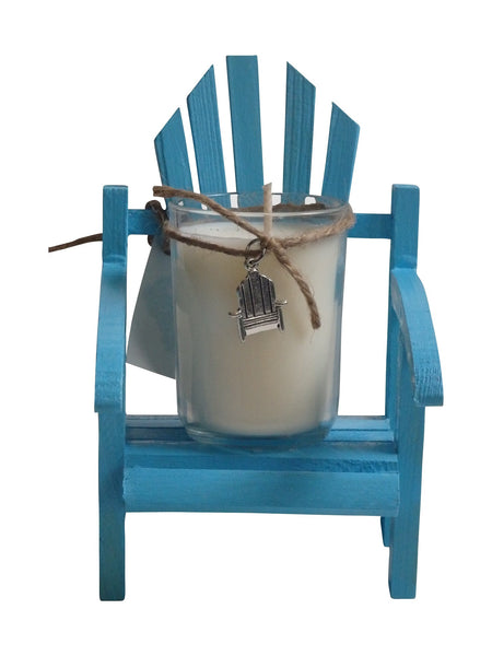 Luxury Miniature Sky Blue Adirondack Chair Candle-Comes with a free Necklace Charm