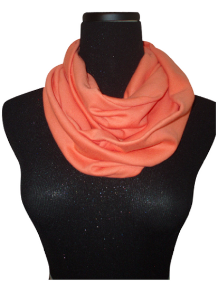 Coral Melon Infinity Scarf