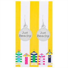 Just Beachy Quote Earrings