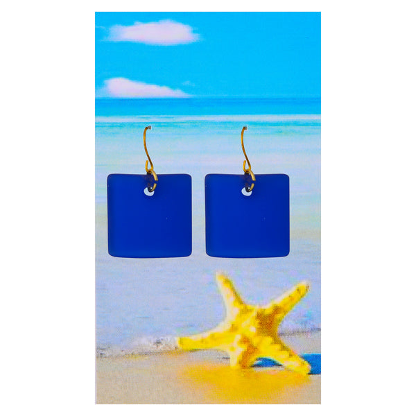 Royal Blue Seaglass Earrings
