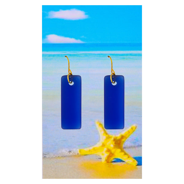 Royal Blue Cabana Seaglass Earrings