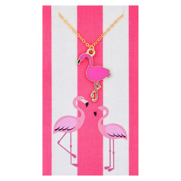 Hot Pink Flamingo Necklaces
