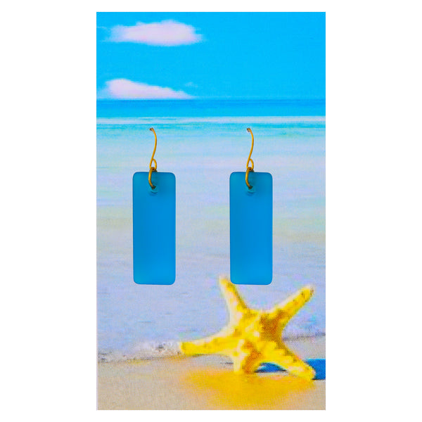 Turquoise Cabana Seaglass Earrings