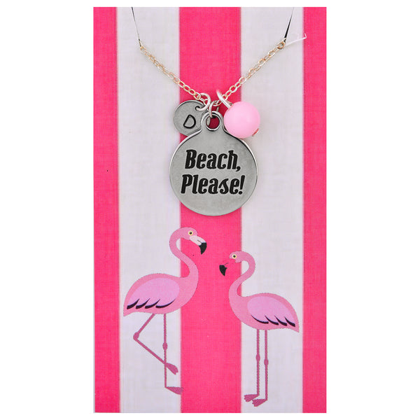 Custom Monogram Beach Please Necklaces