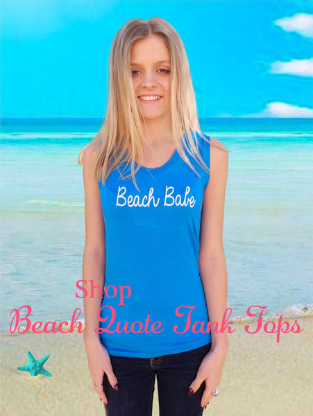 Beach Babe Quote Tank Top