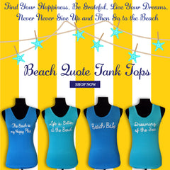 Dreaming of the Sea Quote Tank Top
