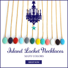 Oval Locket Necklaces-12 Color Choices