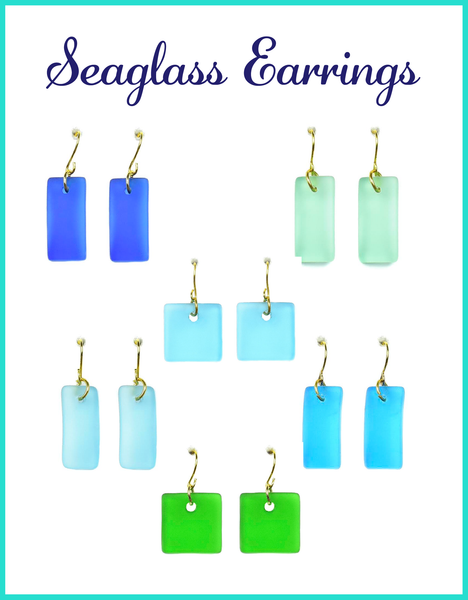 Cabana Seaglass Earrings-Choose Your Design