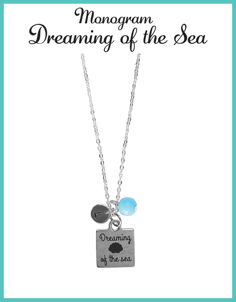 Custom Monogram Dreaming of the Sea Necklaces