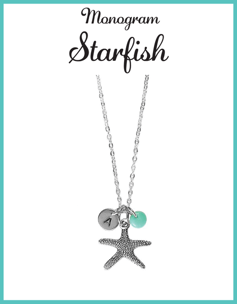 Custom Monogram Starfish Necklaces