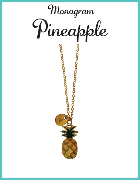 Custom Monogram Pineapple Necklaces