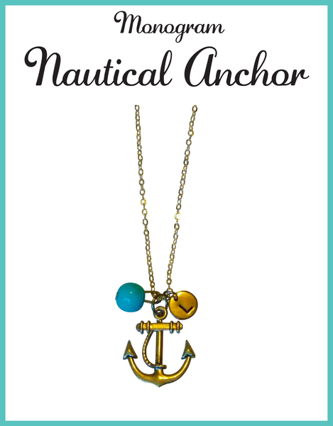 Custom Monogram Anchor Necklaces