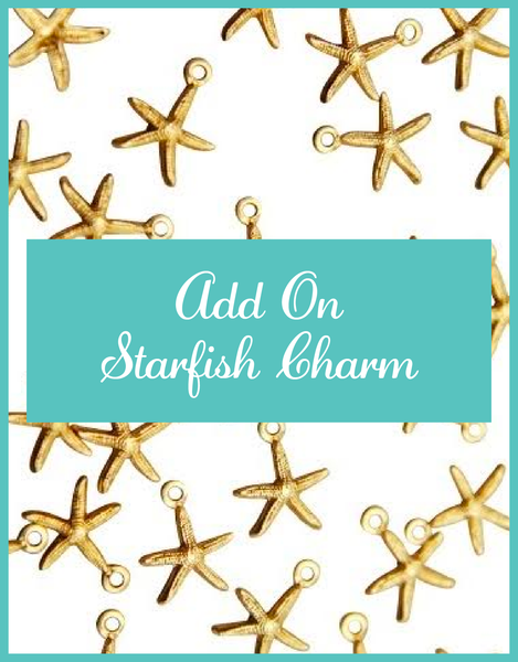 Add on Tiny Gold Starfish Charm