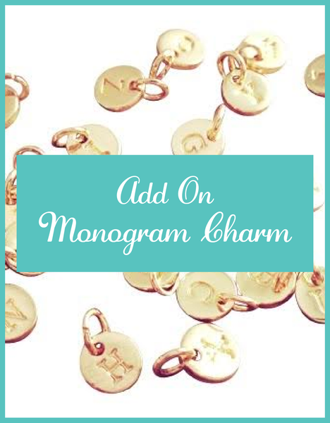 Add on Tiny Monogram Charm-Gold Or Silver