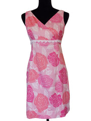 RARE LILLY PULITZER ROSES SHIFT DRESS SIZE 4-SOLD OUT