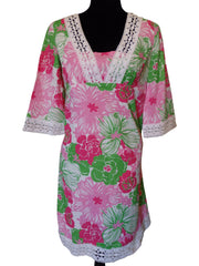 Lilly Pulitzer Pink Floral Tunic Dress Size 2-SOLD OUT