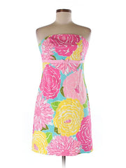Lilly Pulitzer Strapless Floral Dress Size 8