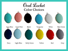 Turquoise Blue Oval Locket Necklace
