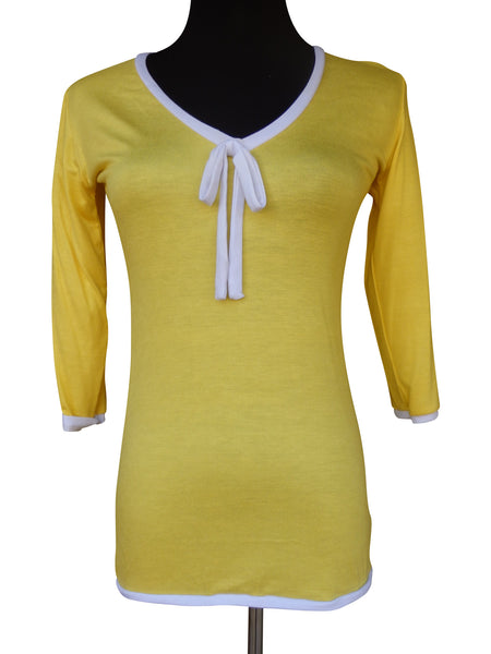 Yellow Ribbon Tie Blouse