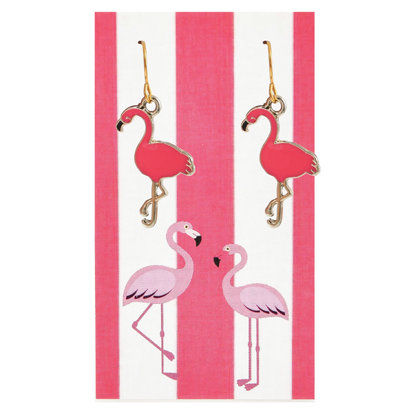 Hot Pink Paradise Flamingo Earrings