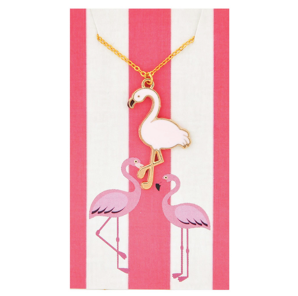 Island Pink Flamingo Necklaces