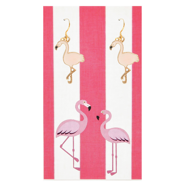 Light Pink Paradise Flamingo Earrings