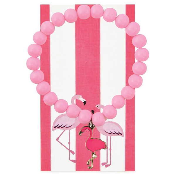 Hot Pink Flamingo Beaded Bracelet