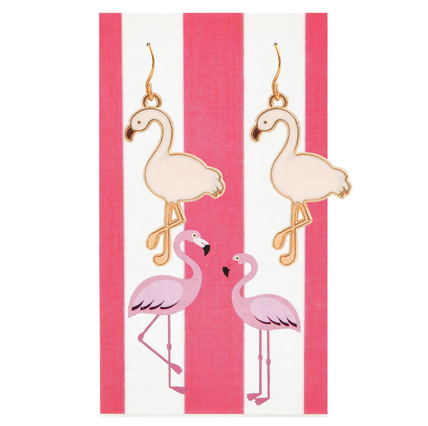 Island Pink Paradise Flamingo Earrings