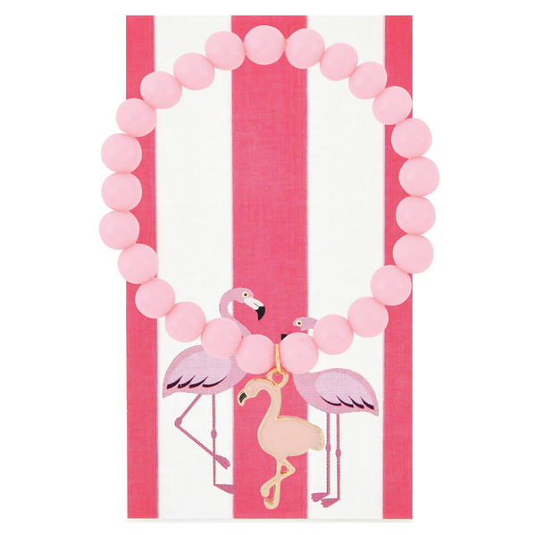Light Pink Flamingo Beaded Bracelet