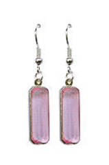 Pink Jewel Earrings - Vintage light pink Glass Jewel