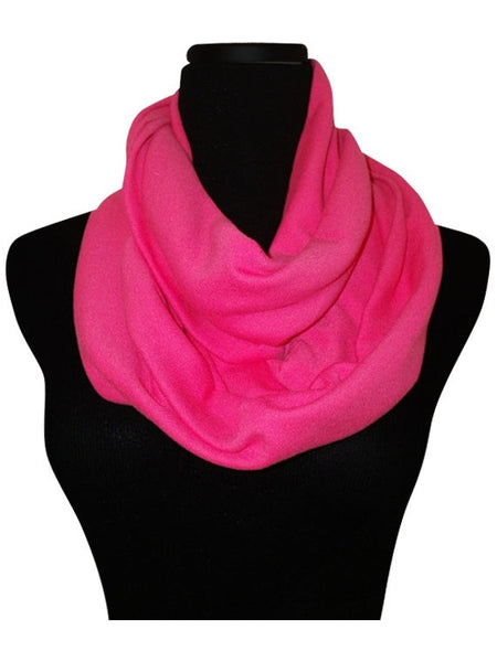 Pink Lipstick Infinity Scarf