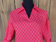 Red Trellis Polo Shirt