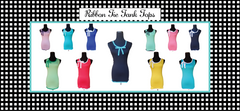 Design Your Own- Ribbon Tie Tank Top-4 Color Choices