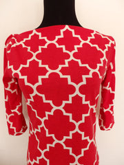 Ruby Red-Designer Womens Classic Boatneck Top