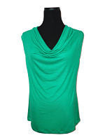 Kelly Green-Designer Womens Classic Cowlneck Blouse