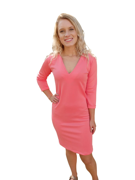 Beach Bridesmaid Chic Pink Shift Dress