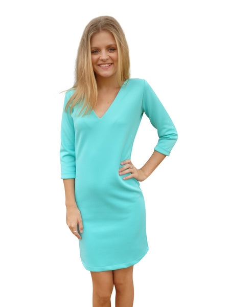 Beach Bridesmaid Seafoam Shift Dress
