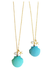 Seashell Locket Necklaces-Choose Your Color