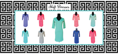 Design Your Own-Solid Shift Dress-3 Color Choices